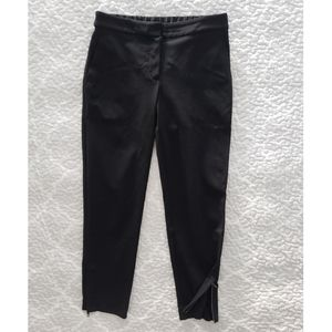THEORY ponte knit stretch flat front crop pants